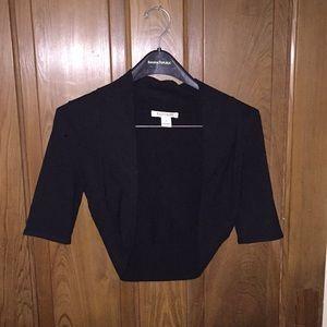 White House Black Market Black shrug sweater small